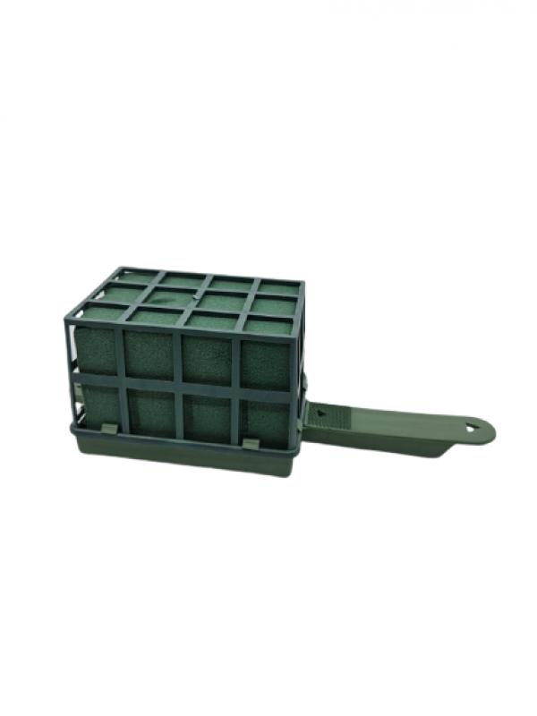 Florex v plastovom držiaku, mokrý, zelený, 8x11x8 cm
