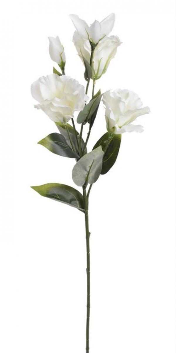 Umelá kvetina Eustoma biela 72cm