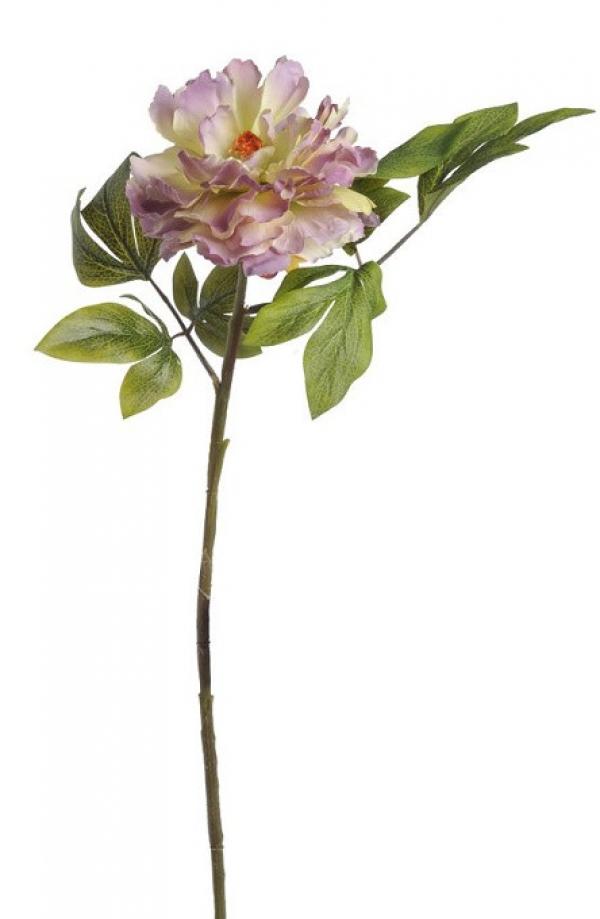 Umelý kvet pivónie fialovo-zelený