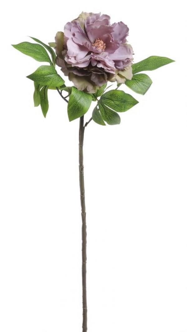 Umelý kvet pivónie fialovo-sivý