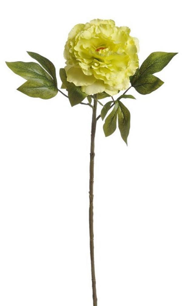 Umelý kvet pivónie žltý
