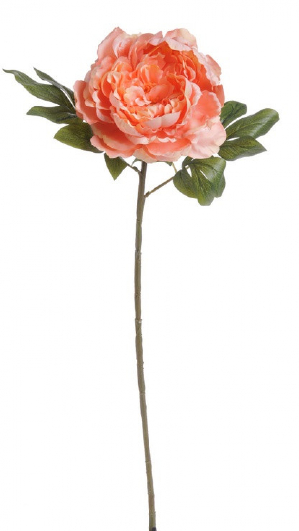 Umelý kvet pivónie lososový 72cm