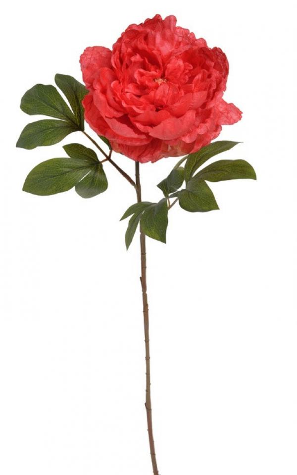 Umelý kvet pivónie červený 71cm