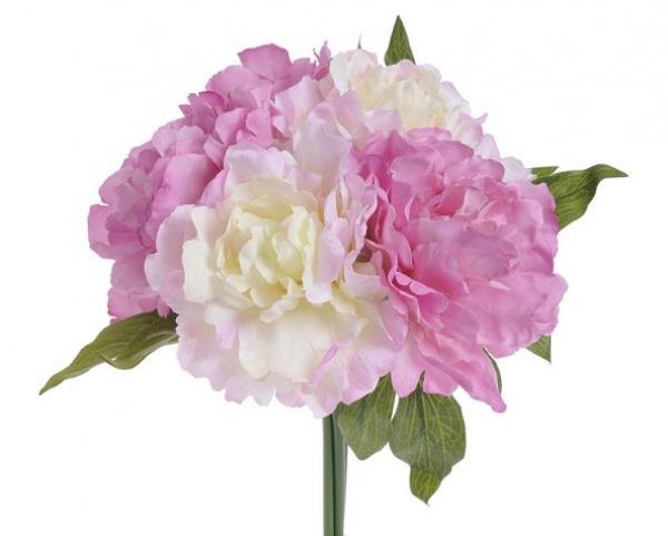 Umelá kytica ružovkastých Pivónií