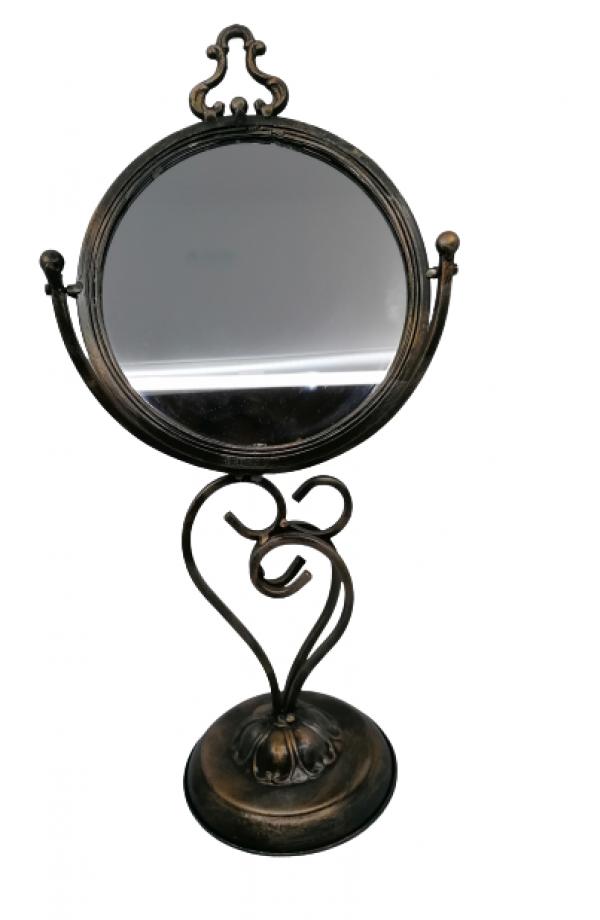Kovové stolové zrkadlo
